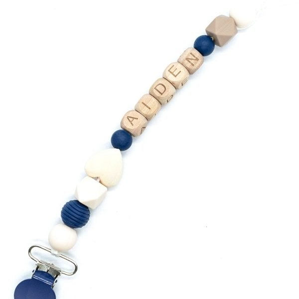 Deep Blue Ocean Pacifier Clip